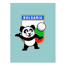 Postcard with Bulgaria Volleyball Panda design