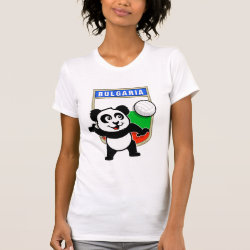 Women's American Apparel Fine Jersey Short Sleeve T-Shirt with Bulgaria Volleyball Panda design