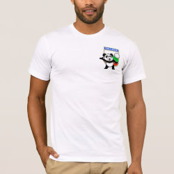 Men's Basic American Apparel T-Shirt with Bulgaria Volleyball Panda design