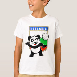 Kids' Hanes TAGLESS® T-Shirt with Bulgaria Volleyball Panda design