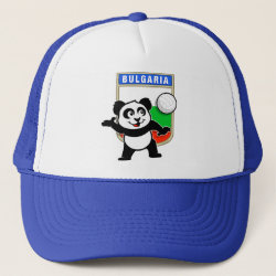 Trucker Hat with Bulgaria Volleyball Panda design