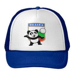 Trucker Hat with Bulgaria Volleyball Panda design