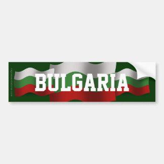 Bulgaria Waving Flag Car Bumper Sticker
