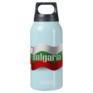 Bulgaria Waving Flag Insulated Water Bottle
