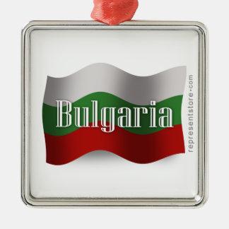 Bulgaria Waving Flag Metal Ornament