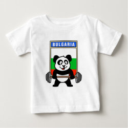 Baby Fine Jersey T-Shirt with Bulgarian Weightlifting Panda design
