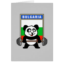 Greeting Card with Bulgarian Weightlifting Panda design