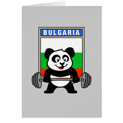 Bulgaria Weightlifting Panda Card