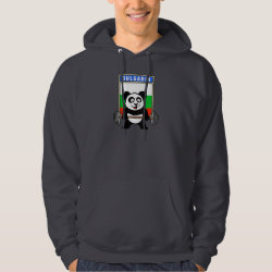Men's Basic Hooded Sweatshirt with Bulgarian Weightlifting Panda design