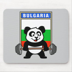 Mousepad with Bulgarian Weightlifting Panda design