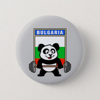 Bulgaria Weightlifting Panda Pinback Button