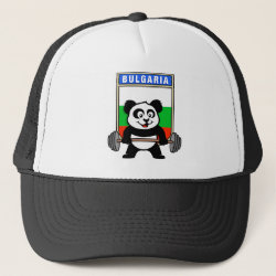 Bulgarian Weightlifting Panda Trucker Hat