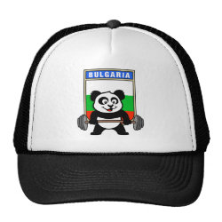 Trucker Hat with Bulgarian Weightlifting Panda design