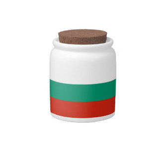 Bulgarian Flag Candy Jar