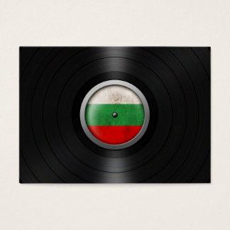 Bulgarian Flag Vinyl Record Album Graphic Business Card