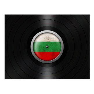 Bulgarian Flag Vinyl Record Album Graphic Postcard