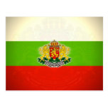 Bulgarian Flag with Coat of Arms Postcard