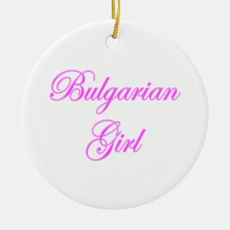 Bulgarian Girl Double-Sided Ceramic Round Christmas Ornament