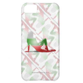 Bulgarian Girl Silhouette Flag iPhone 5C Case