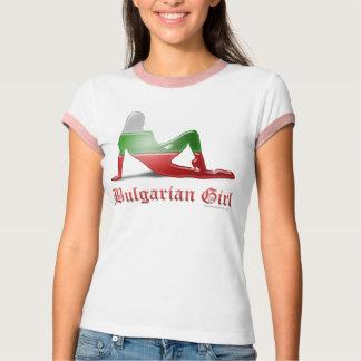 Bulgarian Girl Silhouette Flag T-Shirt