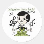 Bulgarian Girls Rock Round Stickers
