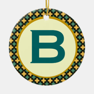 Bulgarian Orthodox Monogram Double-Sided Ceramic Round Christmas Ornament