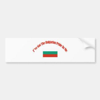 bulgarian patriotic flag designs car bumper sticker