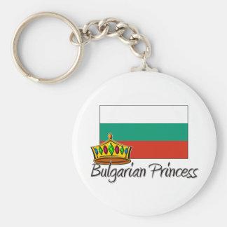 Bulgarian Princess Basic Round Button Keychain
