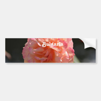 Bulgarian Rose Car Bumper Sticker