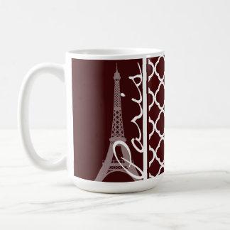 Bulgarian Rose Quatrefoil; Paris Coffee Mug