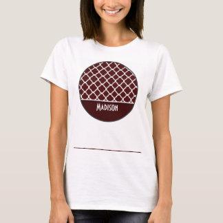 Bulgarian Rose Quatrefoil; Personalized T-Shirt