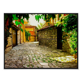 Bulgarian Village Preserved Houses and Streets Poster