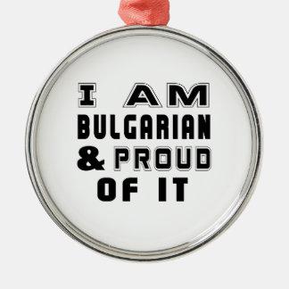 BULGARIANDESIGNS ADORNO REDONDO PLATEADO