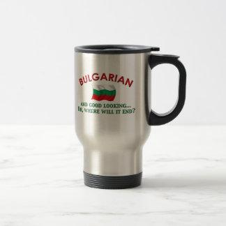 Búlgaro apuesto taza de viaje