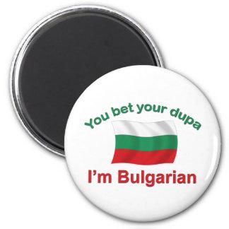 Búlgaro Dupa (con la bandera) Imán Redondo 5 Cm