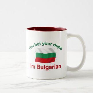Búlgaro Dupa (con la bandera) Taza De Café De Dos Colores