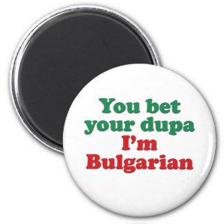 Búlgaro Dupa (sin bandera) Imán Redondo 5 Cm