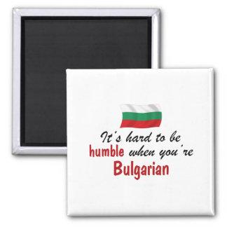 Búlgaro humilde imán cuadrado