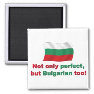 Búlgaro perfecto imán cuadrado