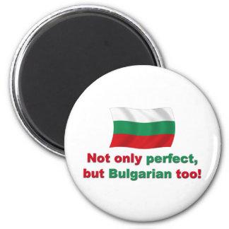 Búlgaro perfecto imán redondo 5 cm