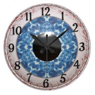 Bulging Bloodshot Blue Eye Large Clock