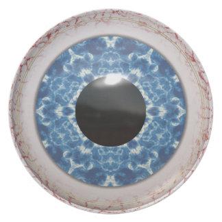Bulging Bloodshot Blue Eye Melamine Plate