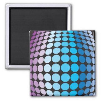 Bulging Blue Dots Pattern Refrigerator Magnet