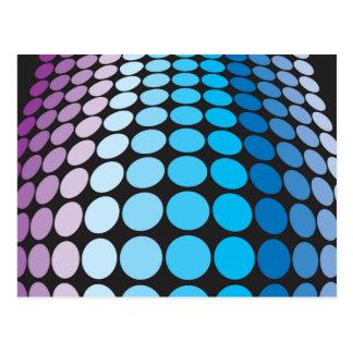 Bulging Blue Dots Pattern Postcard