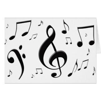 Bulging Music Notes Card