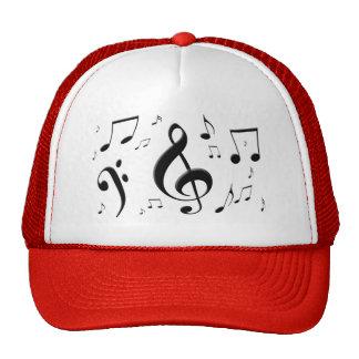 Bulging Music Notes Hat