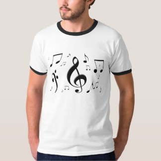 Bulging Music Notes T-Shirt