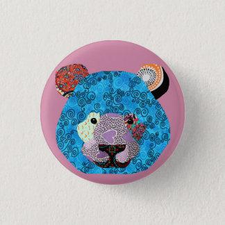 Bulging plate of ursus arctos pinback button
