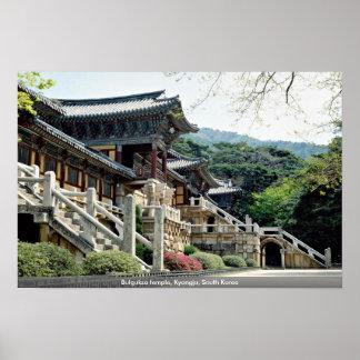 Bulguksa temple, Kyongju, South Korea Poster
