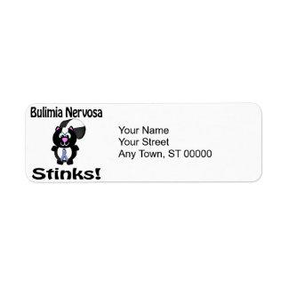 Bulimia Nervosa Stinks Skunk Awareness Design Label